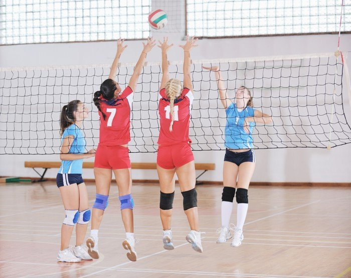 genouillere volley ball asics