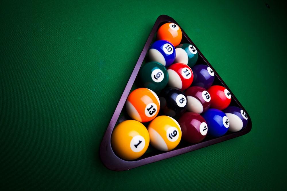 9 Ball en plastique noir am/éricain Piscine Triangle pour 57mm balles.