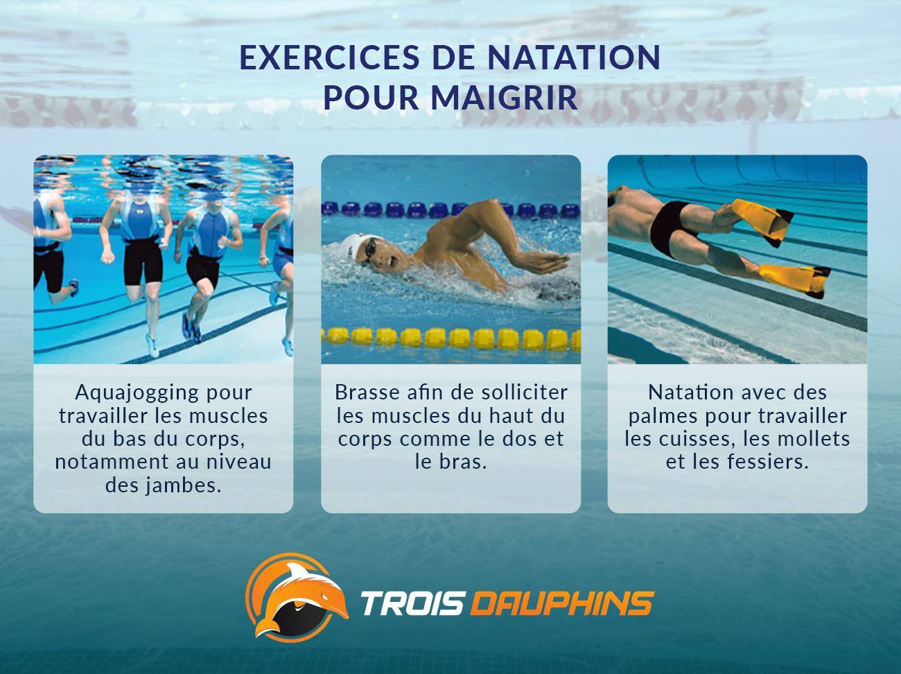 exercices de natation