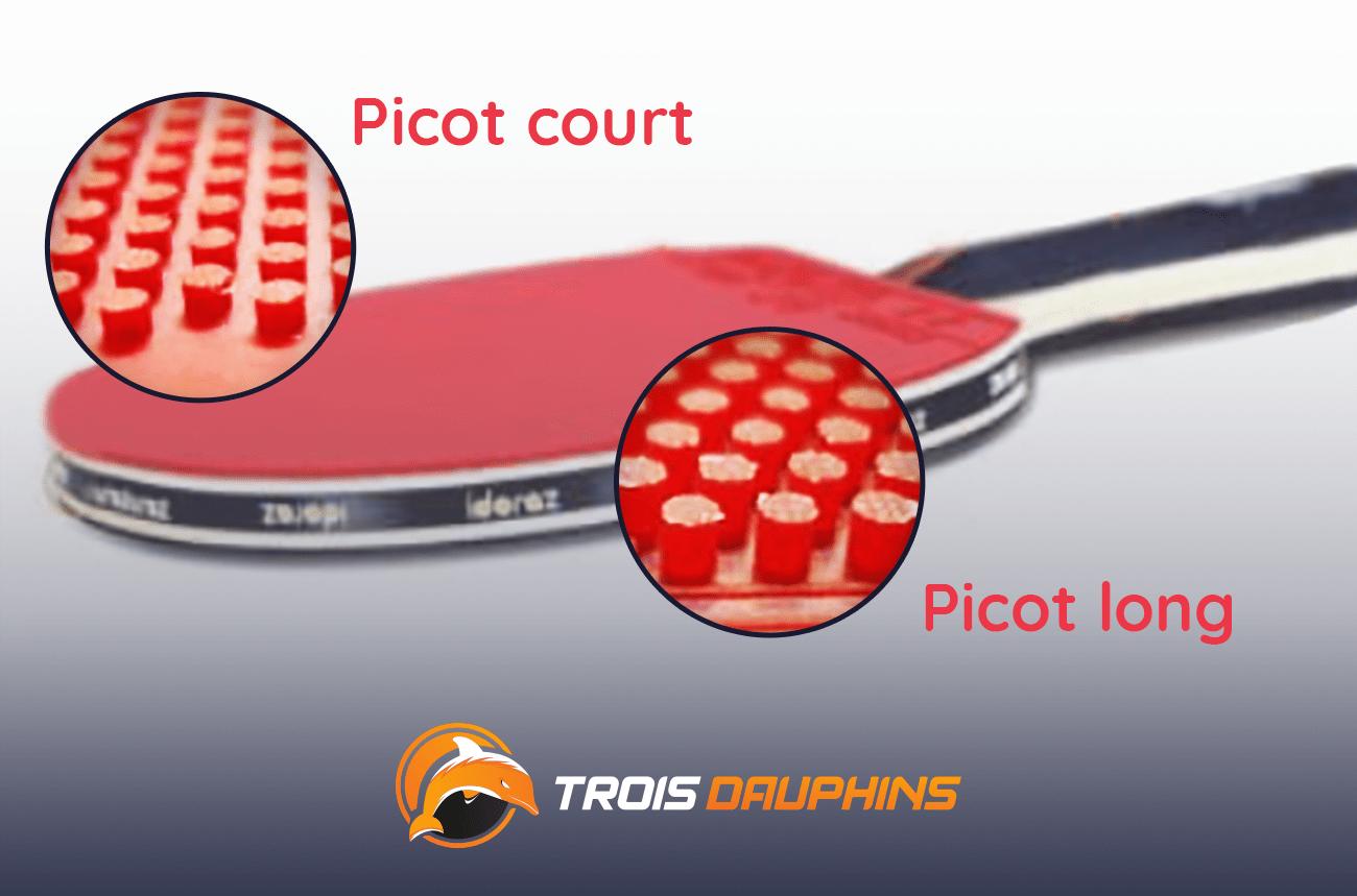 picots raquette de ping pong
